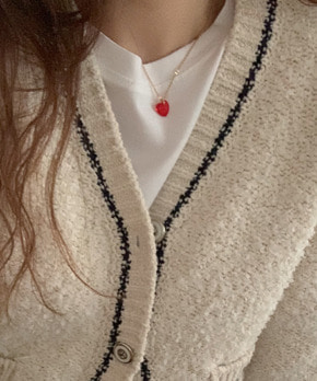 Ruby ♡ necklace (red)
