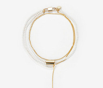 [Monday Edition] Dropped Chain and Pearl Necklace (30%off)