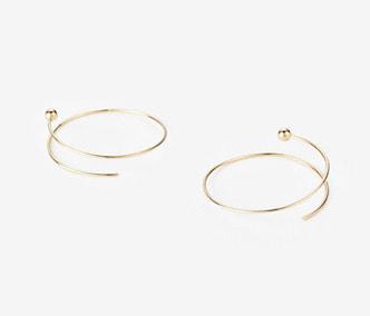 [PRECIOUS] Twisted Circle And Ball Earrings BIG