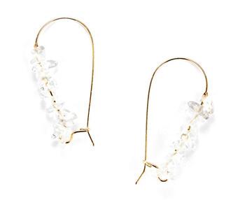 [usual ME] clear quartz earring (15%off)