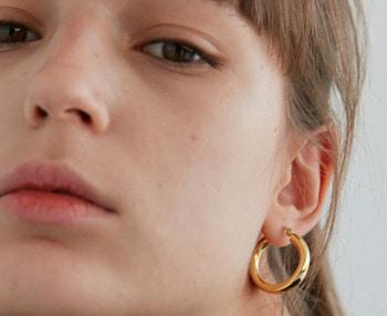 [usual ME] silver hoop earrings 2 (15%off)