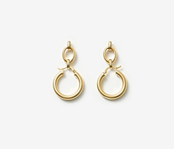 [Monday Edition] Linked Chunky Hoop Earrings (10%off)