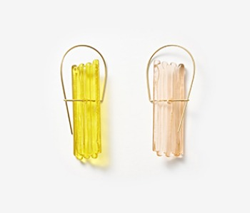 [Monday Edition] Vertical Pattern Glass Earrings (10%off)