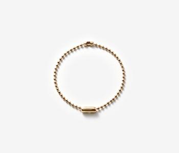 [MEdMAN] golden simple ball chain bracelet