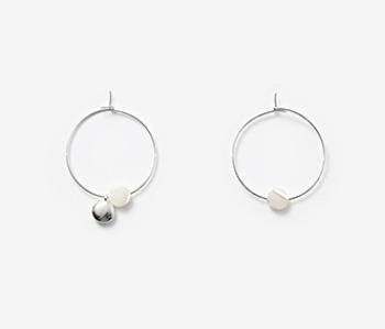 [usual ME] Tiny Pebble & Seashell Earrings (15%off)