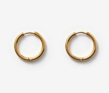 [MEdMAN] simple big circle piercings - gold