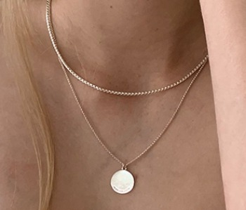 [usual ME] Arc Logo Pendant Necklace (15%off)