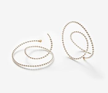 Mobius Vortex Pearl Earrings
