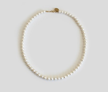 The Basic Pearl Necklace  6mm (제작기간 1~2주 소요)
