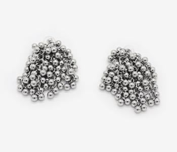 Tiny Ball Bundle Chain Earrings
