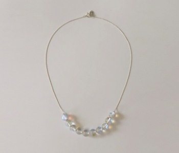 Bubbles and Thin Chain Necklace
