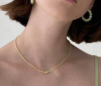 Sour Candy Necklace - Lime (10%off)