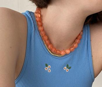 sugarplum necklace - orange (10%off)