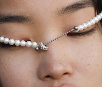 The Barbell Pearl Necklace (15% off)