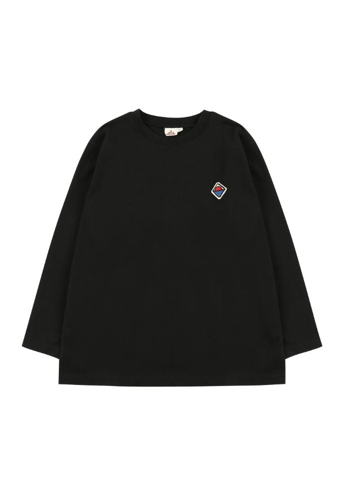 젤리멜로 롱 티셔츠_블랙_베이비