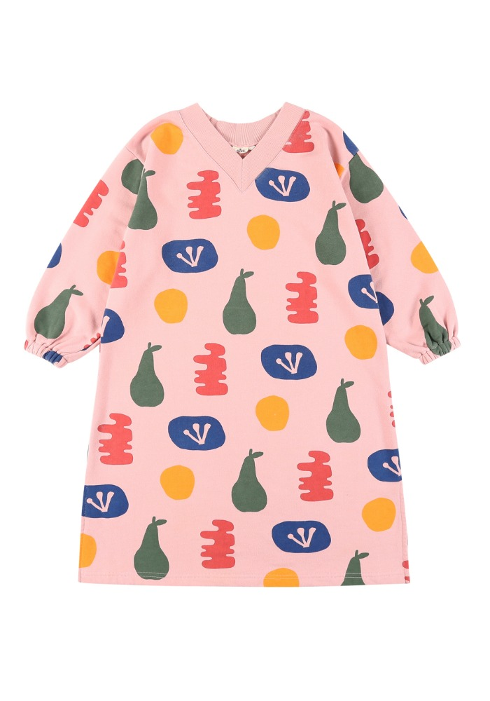 페인팅 브이넥 드레스