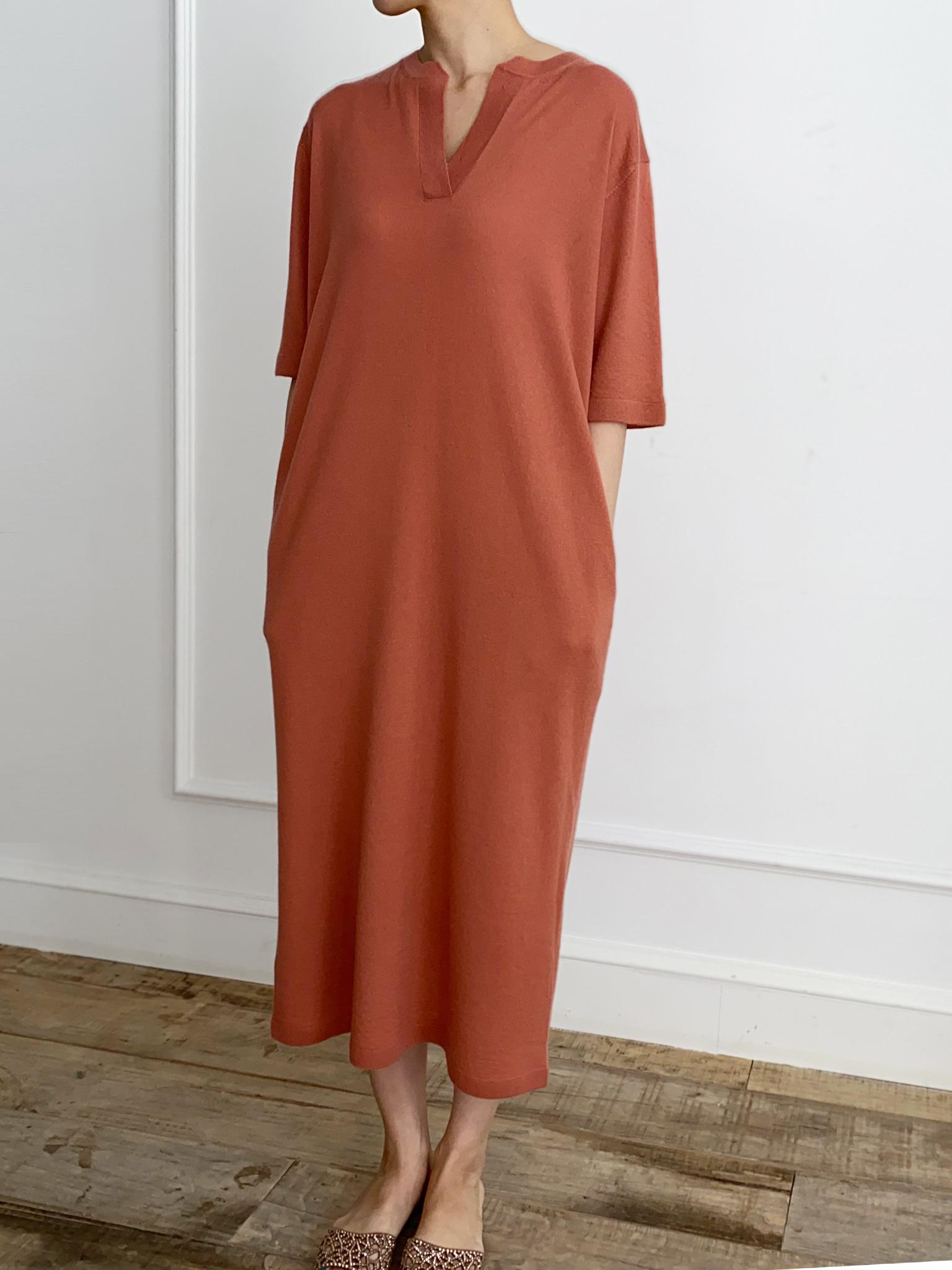 -MARE DI MARI.m-  Open Collarless Cashmere Knit Dress