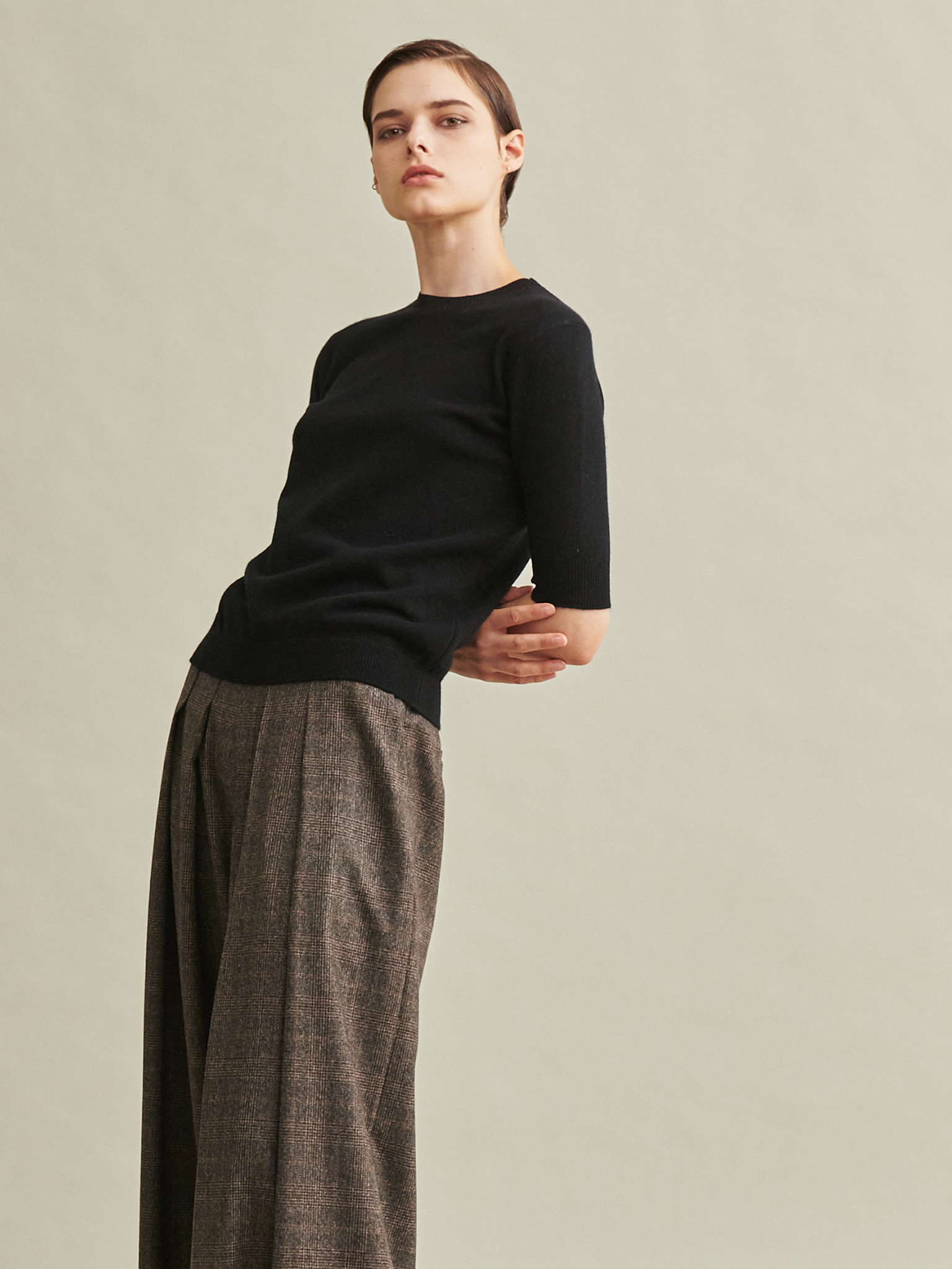 Todd&Duncan Cashmere 100% Short Sleeve Knit Top