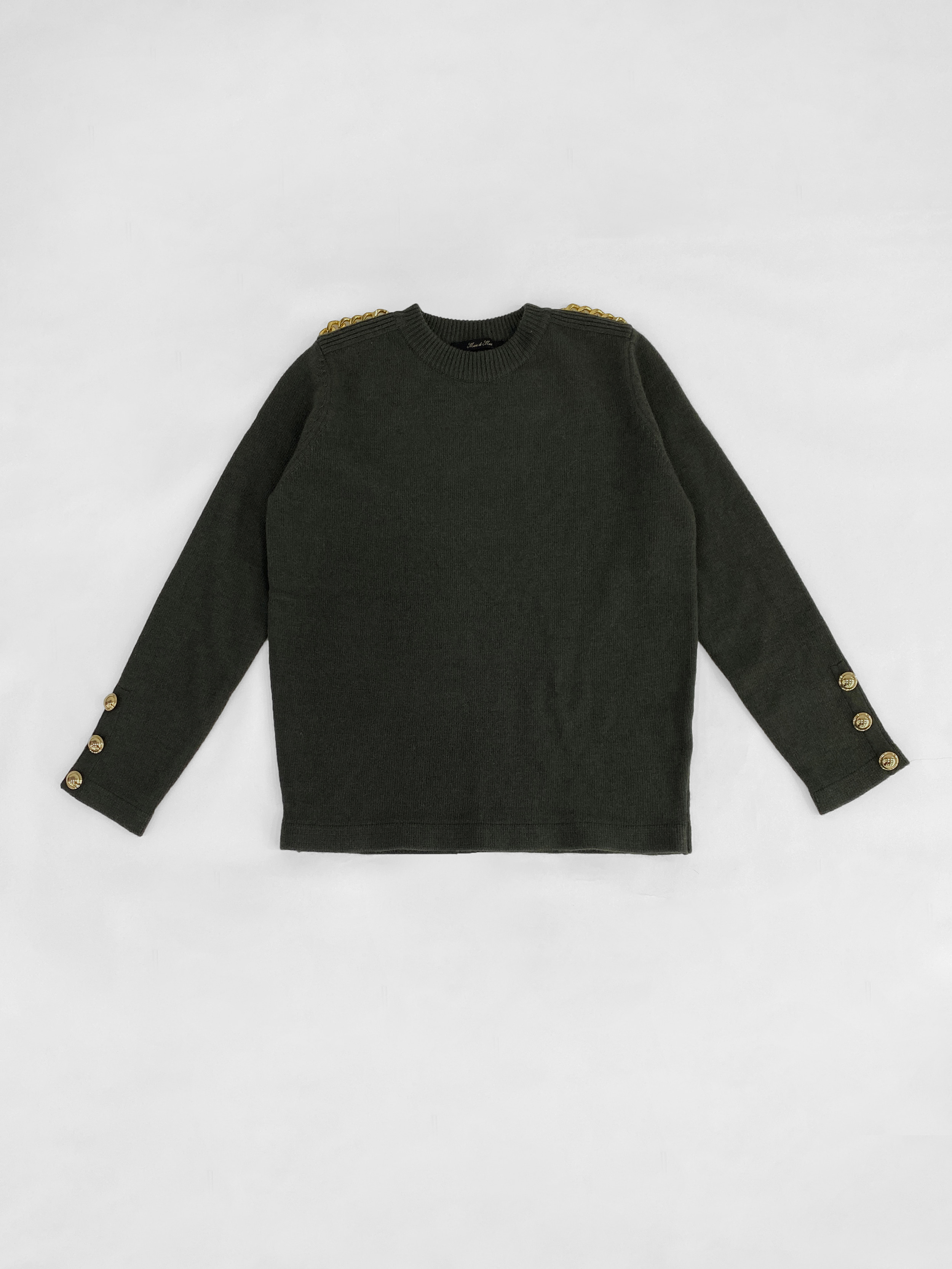 Cashmere Blend Chain Knit Pullover