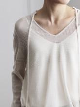 -MARE DI MARI.m-  Seethrough Knit Pullover + Slip Top SET.