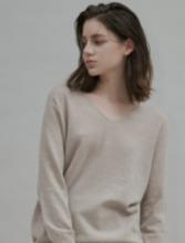 Cashmere Blend Wholegarments V neck Pullover
