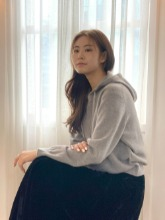 Cashmere Blend Hoodie Knit