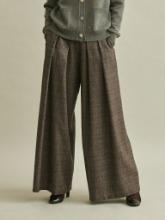 [2차 예약판매] Premium Wool Check Wide Pants