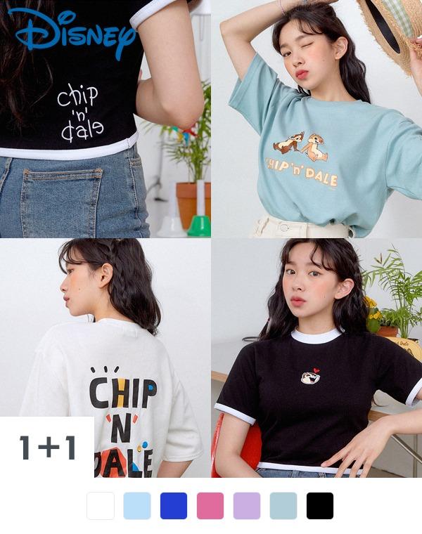 [DISNEY][1+1] 칩앤데일 반팔 티셔츠 3종_02