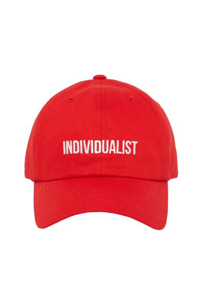 [이광수 착용] INDIVIDUALIST BALL CAP RED