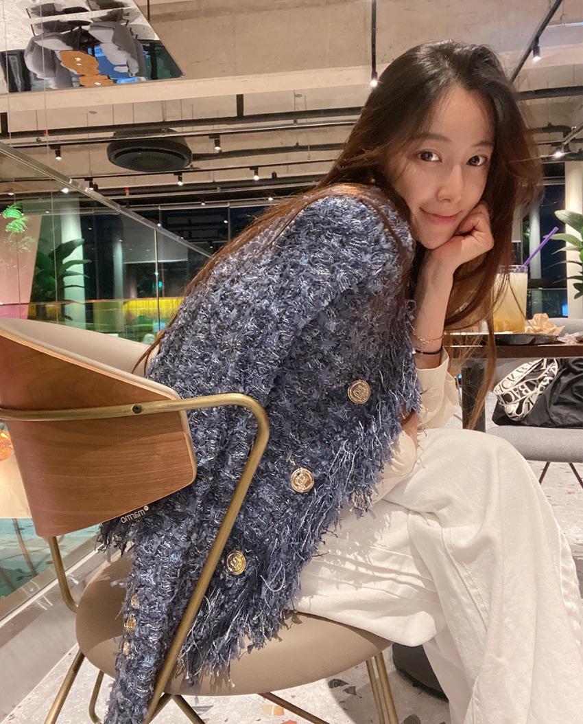 Shine Blue Knit Jacket