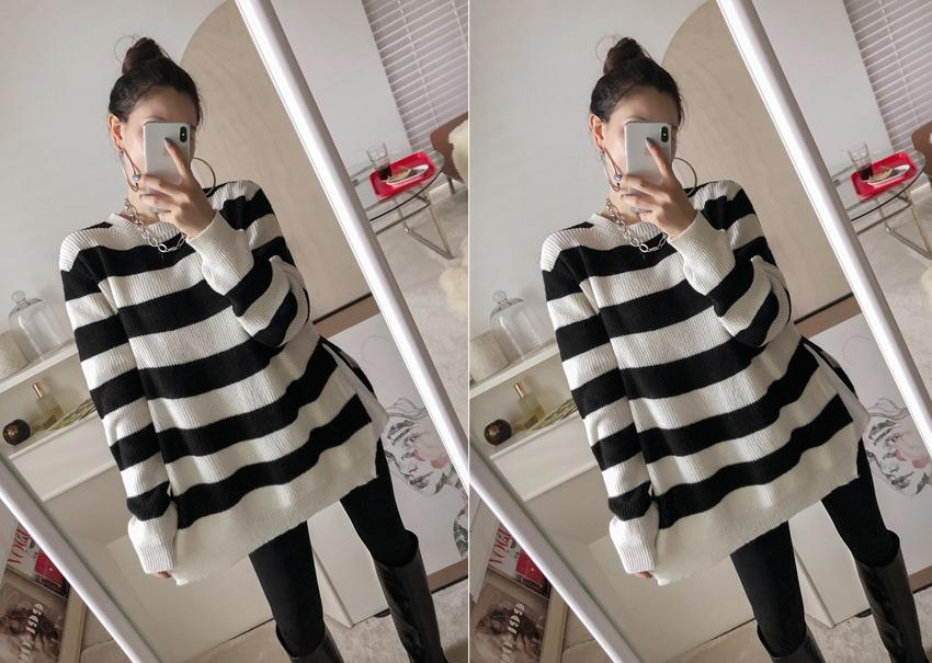 Audrey stripe knit