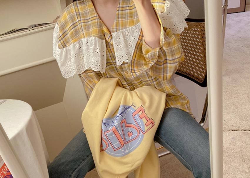 Fiance check blouse