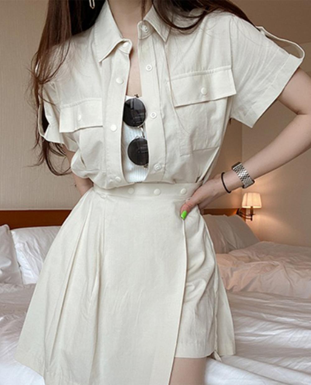 Safari cotton blouse