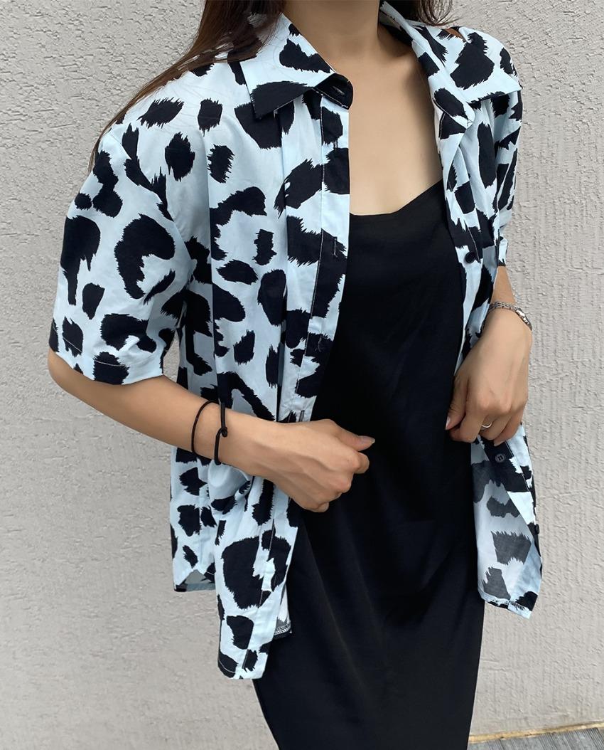milk leopard shirt