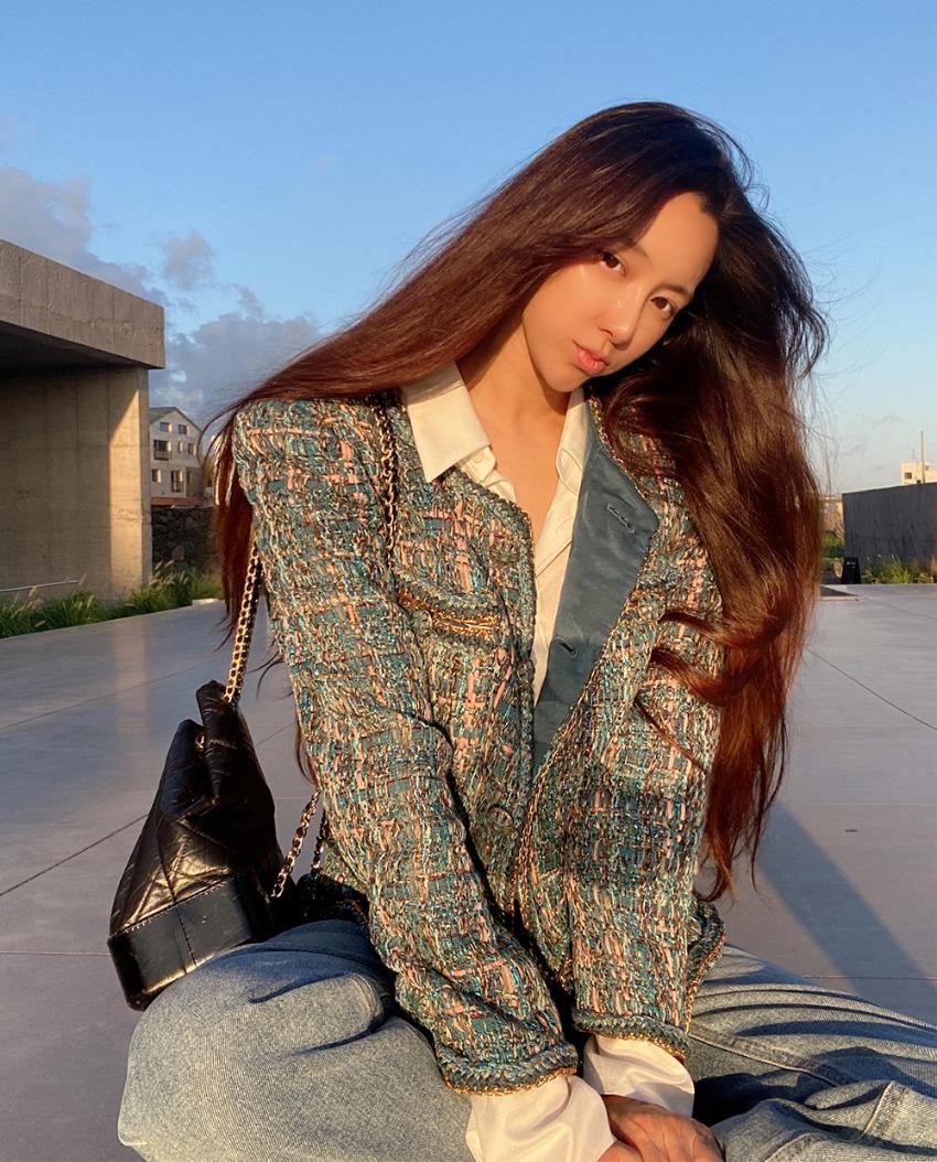 Pio Gold Chain Tweed Jacket
