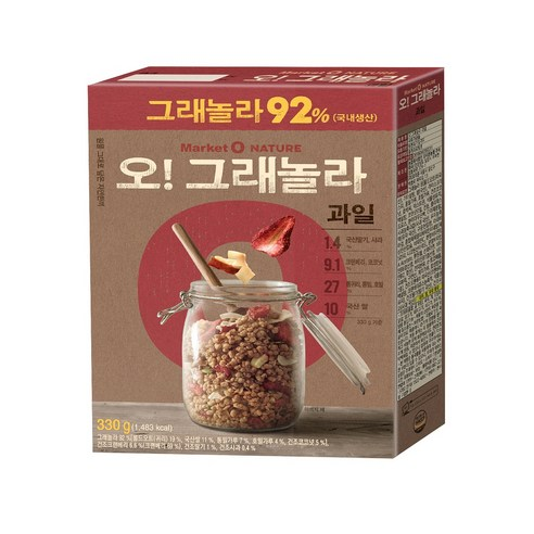 [Orion] Market O Nature O Granola Cereal Fruit 330g (Weight : 500g)