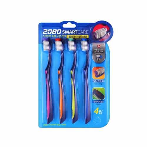 [Aekyung] 2080 Smart Care Toothbrush 4EA (Weight : 300g)