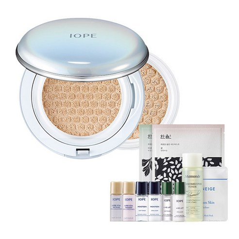 [Iope] Air Cushion Cover 15g + Refill 15g #23 Beige + Amore Pacific Small Kit (Weight : 150g)