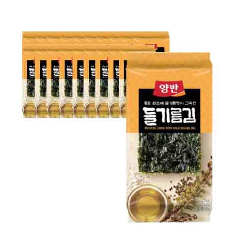 Dongwon Seasoned Laver with Perilla Oil 5g X 12EA (Weight : 200g)