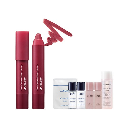 [Mamonde] Creamy Tint Color Balm Intense #10 Classic Burgundy 2.5g + Amore Pacific Small Kit (Weight : 35g + 125g)