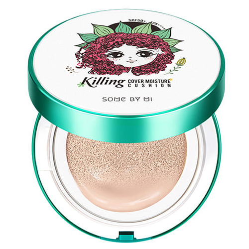 [Some By Mi] Killing Cover Moisture Cushion 2.0 SPF50+/PA++++ #21 Light Beige 15g (Weight : 80g)
