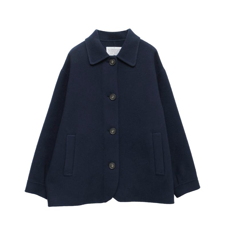 完美質感羊毛短大衣(手工製)