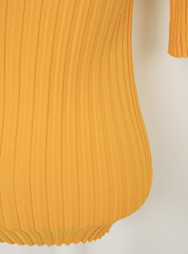 Cutout Detail Rib Knit Top