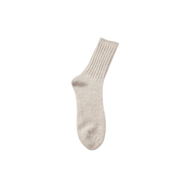 Ribbed Panel Knit Socks