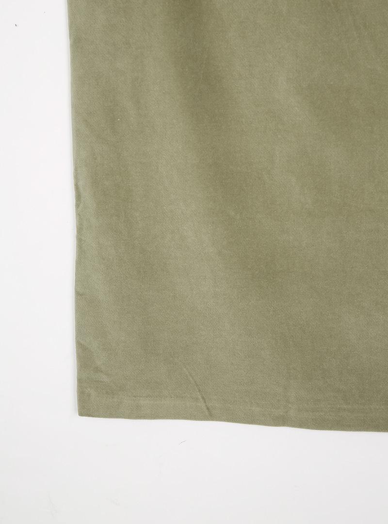 Front Slit Straight Midi Skirt