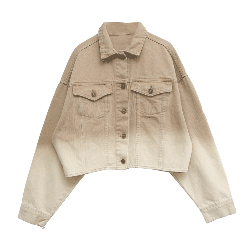 Gradient Cropped Shirt Jacket