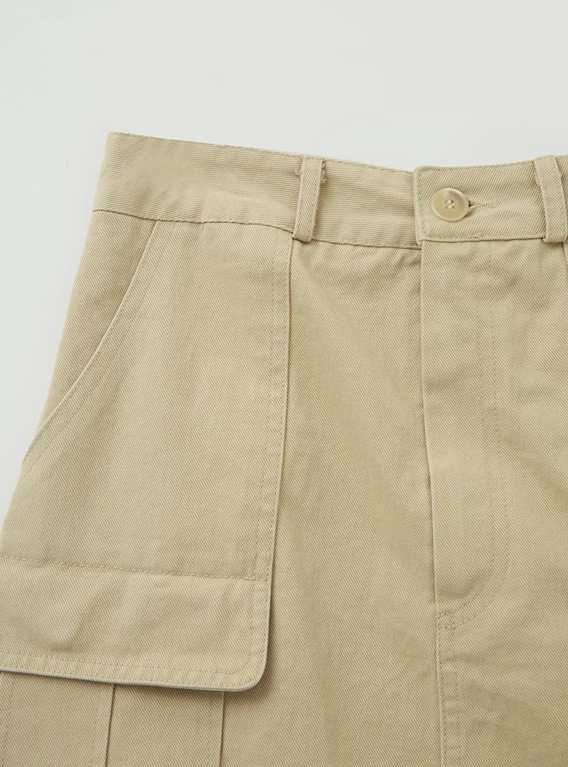 Cargo Pocket Cotton Mini Skirt
