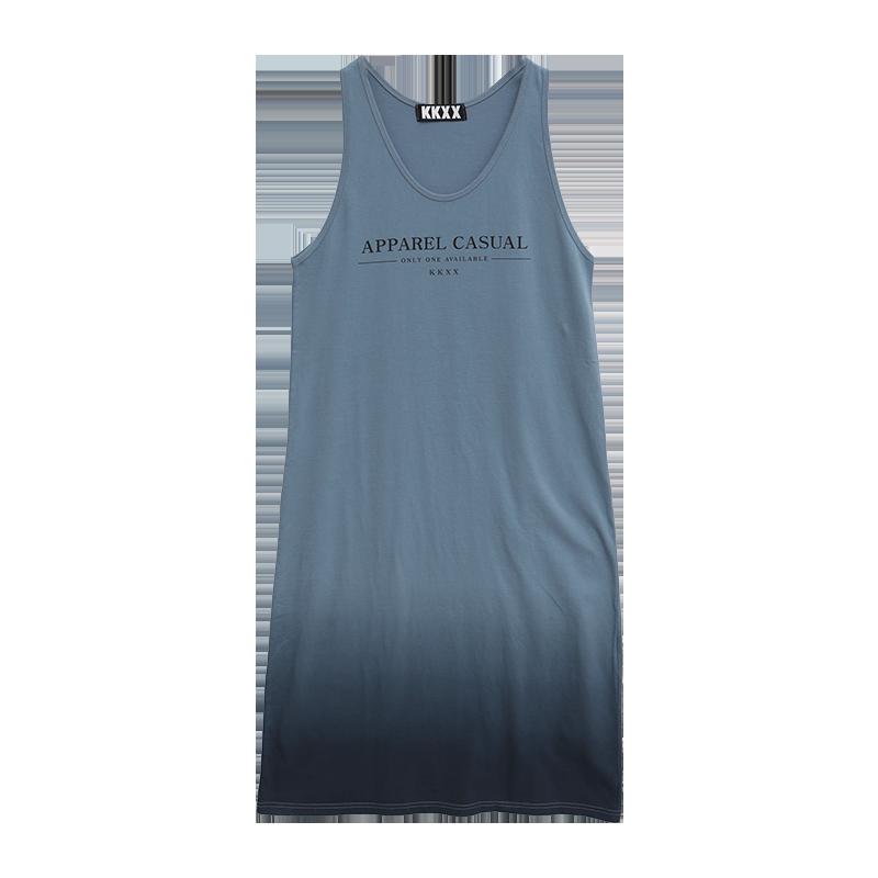 kkxx漸層色造型印字無袖洋裝
