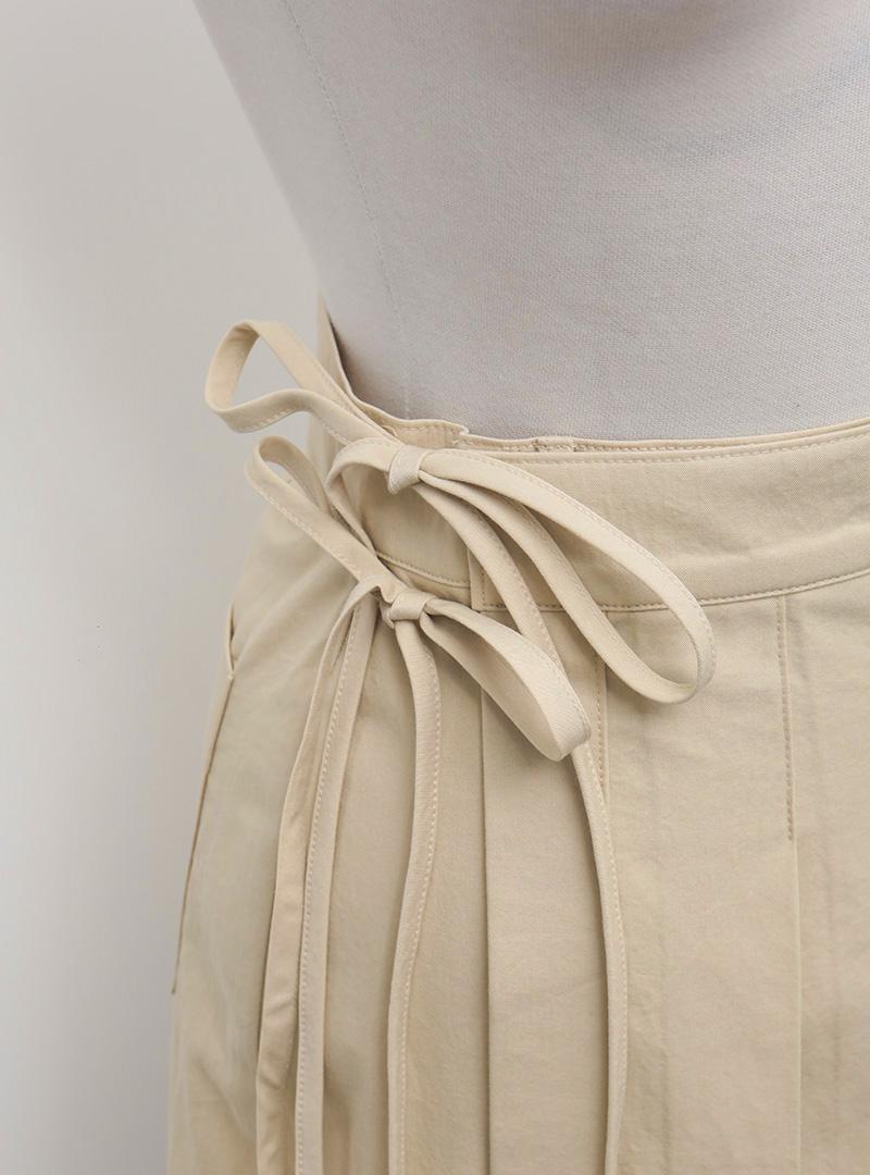Knife Pleat Wrap Skirt