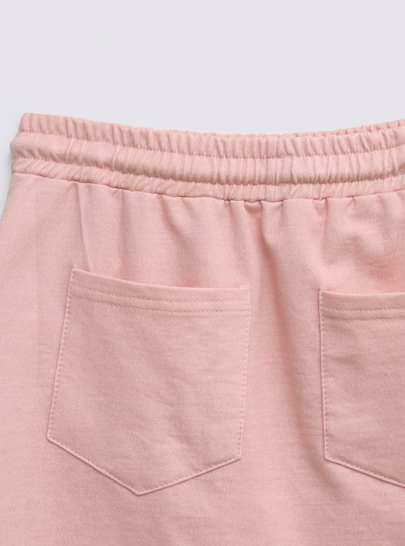 Elastic Waist Drawstring Mini Skirt